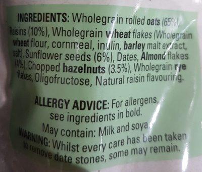 Oat muesli nuts and seeds - Ingredientes - fr