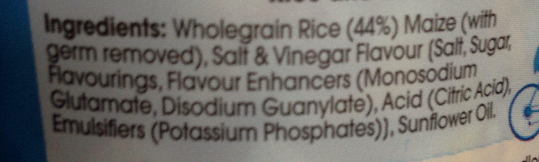 Salt and Vinegar - Ingredients