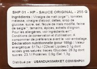 Original Sauce - Ingredients