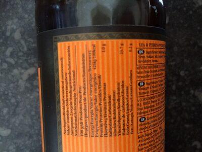 Worcestershire sauce - Informations nutritionnelles - fr