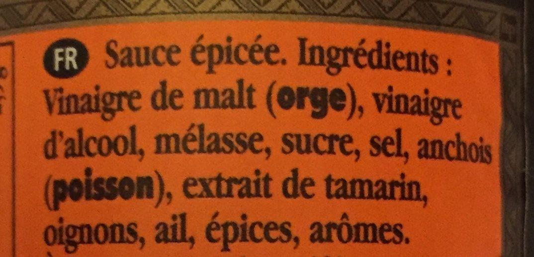 Worcestershire Sauce - Ingredients