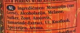 Worcestershire Sauce - Ingrediënten - nl