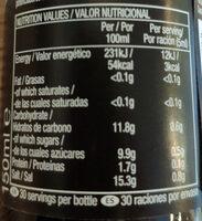 Light Soy Sauce - Informations nutritionnelles - en
