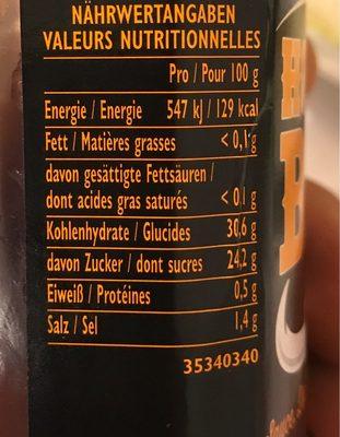 HP Honey Woodsmoke BBQ Sauce - Información nutricional - fr
