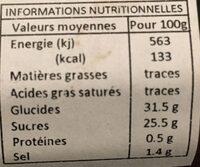 HP Classic BBQ Sauce - Nutrition facts - en