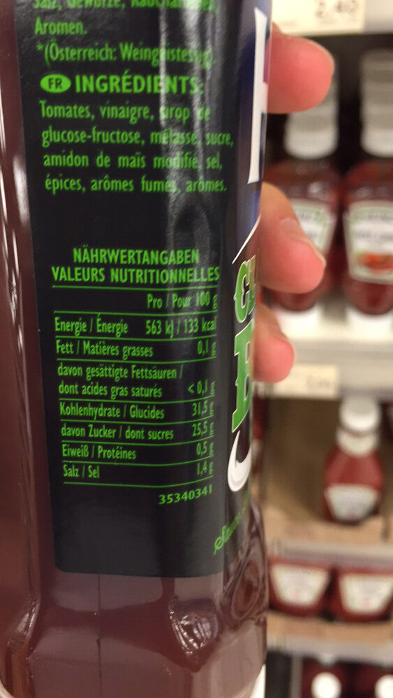 HP Classic BBQ Sauce - Informations nutritionnelles - fr