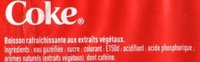 Coca Cola - Ingredients - fr