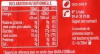 Coca Cola - Nutrition facts - fr