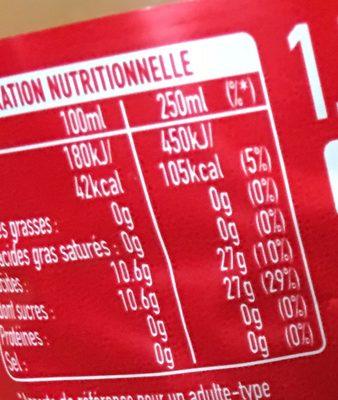 Coca-Cola original taste - Informazioni nutrizionali - fr