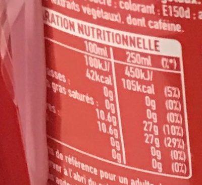 Boisson rafraîchissante aux extraits végétaux - Valori nutrizionali
