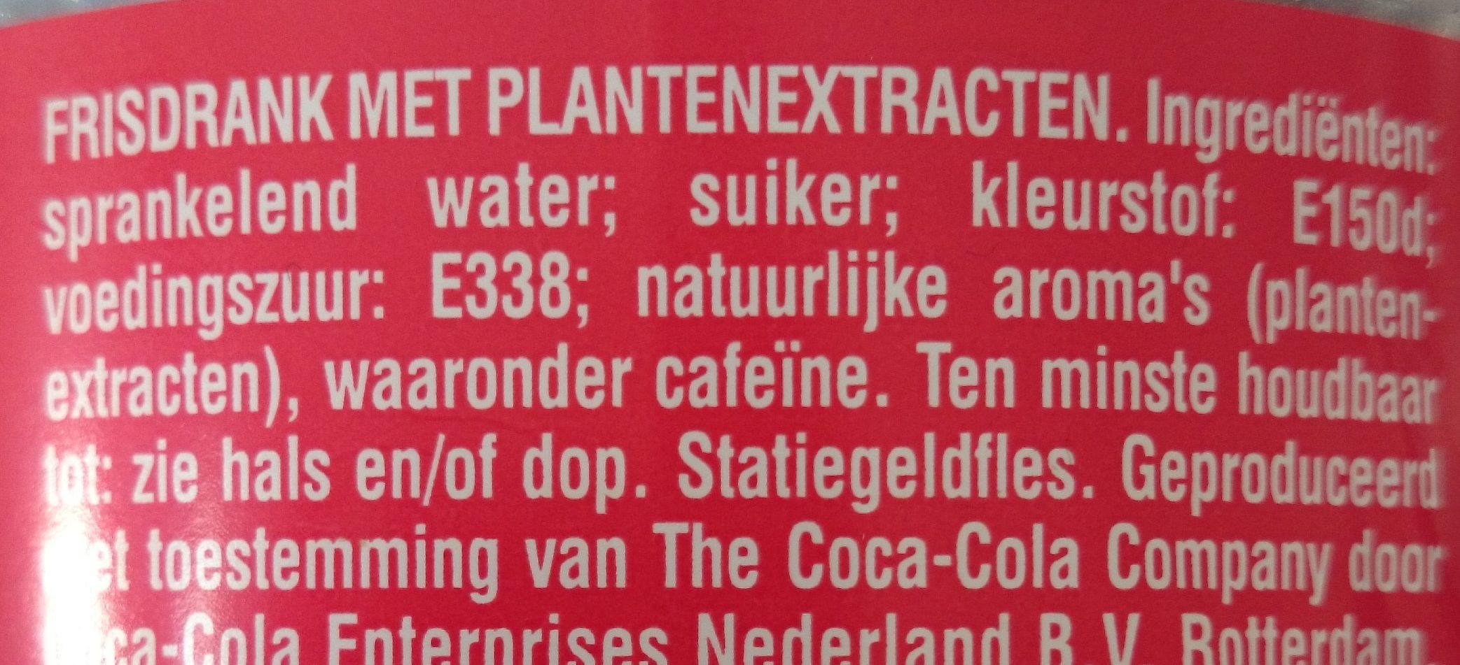 Cola Regular - Coca-cola - 1.5 Liters - Ingrediënten - nl