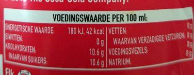 Cola Regular - Coca-cola - 1.5 Liters - Voedingswaarden - nl