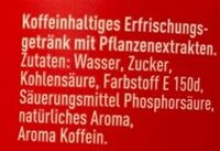 Coca Cola - Ingredienti - de
