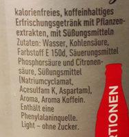Coca Cola light - Ingredienti - de