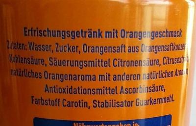 Fanta Orange - Inhaltsstoffe