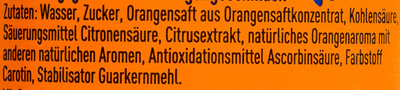 FANTA Orange - Ingredients - de