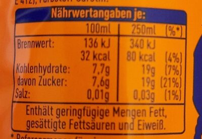 FANTA Orange - Nutrition facts - de