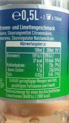 Sprite - Información nutricional - fr