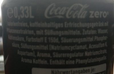 Coca-Cola Zero - Ingredients