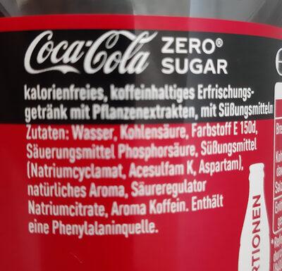 Zero Sugar - Ingredients
