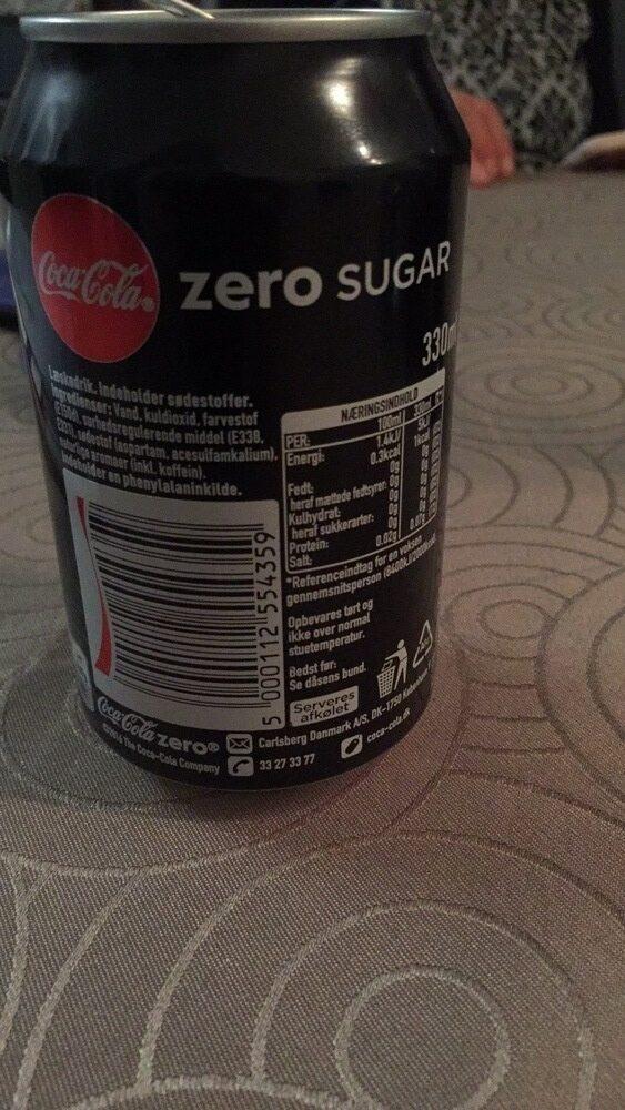 Coca Cola zéro - Voedingswaarden