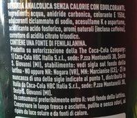 Coca Cola Zero - Ingredienti - fr