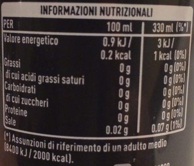 Coca Cola Zero - Valori nutrizionali - fr