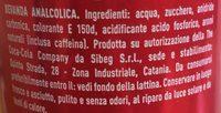 Coca Cola - Ingredienti