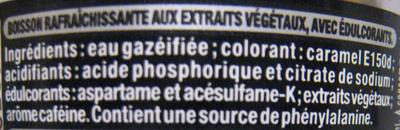 Coca-Cola Zéro - Ingredients