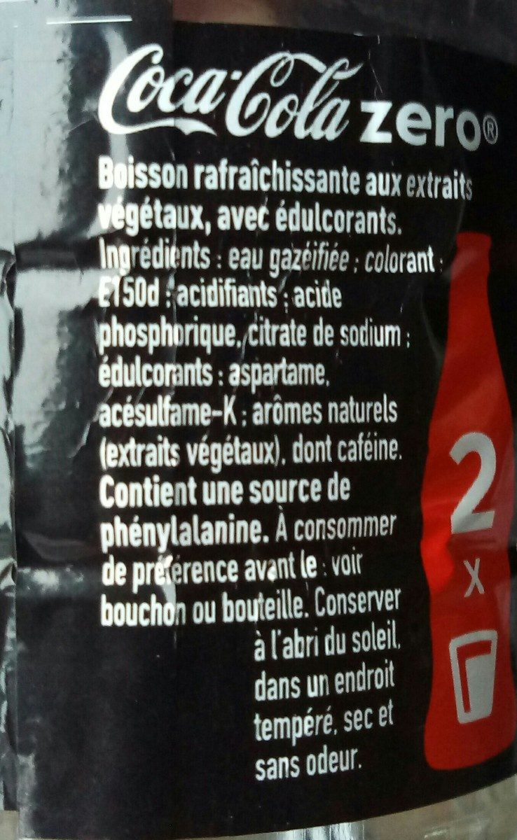 Coca-Cola Zéro - Ingredients