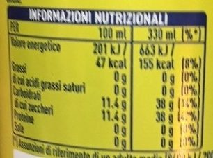 Fanta lemon - Nutrition facts