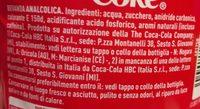 Coca Cola ORIGINAL taste - Ingredienti