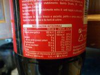Coca-Cola - Informazioni nutrizionali