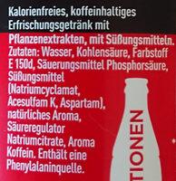 Coca-Cola Zero Sugar - Ingredients - de