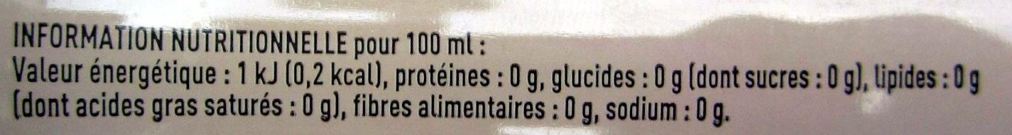 Coca-Cola light - Valori nutrizionali - fr