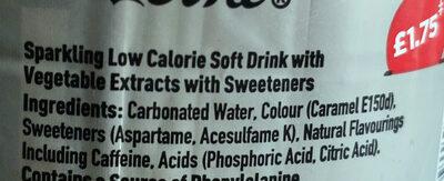 Diet Coke - Ingrédients - en