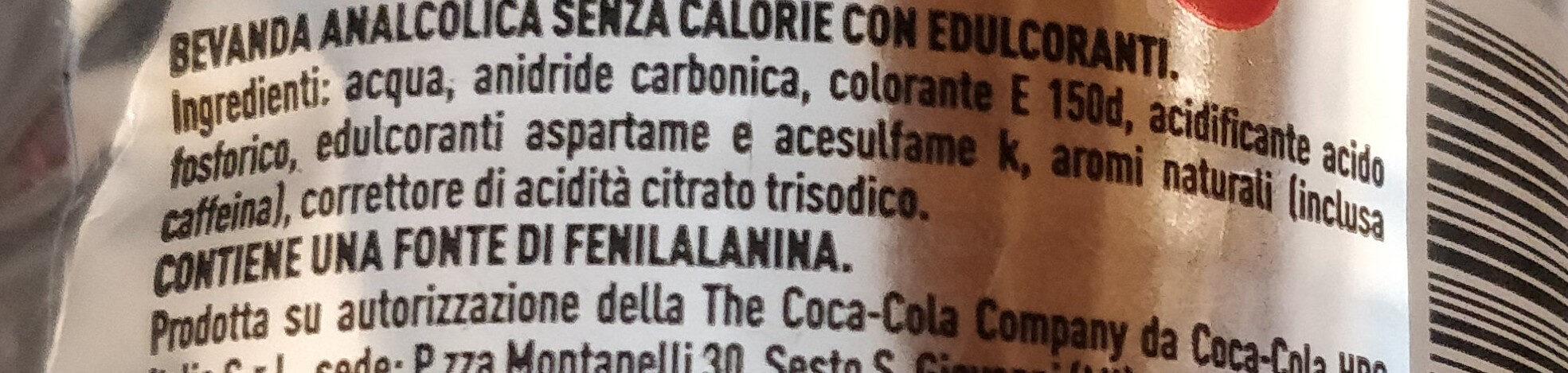 Coca cola light taste - Ingredienti - it
