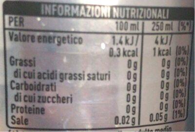 Coca cola light taste - Valori nutrizionali - fr