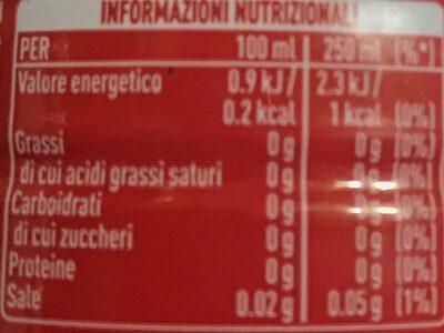 Coca-Cola Zero - Valori nutrizionali - it