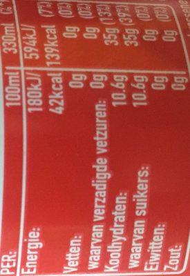 Coca cola Detourné - Informació nutricional