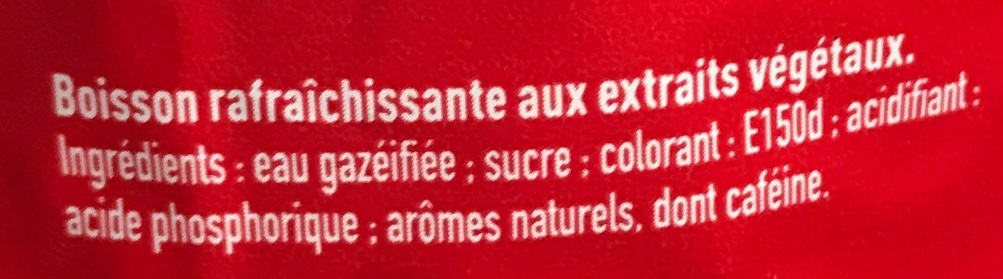 Coca-Cola - Ingredients - fr