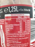 Coca-Cola zéro sucres - Nährwertangaben - de