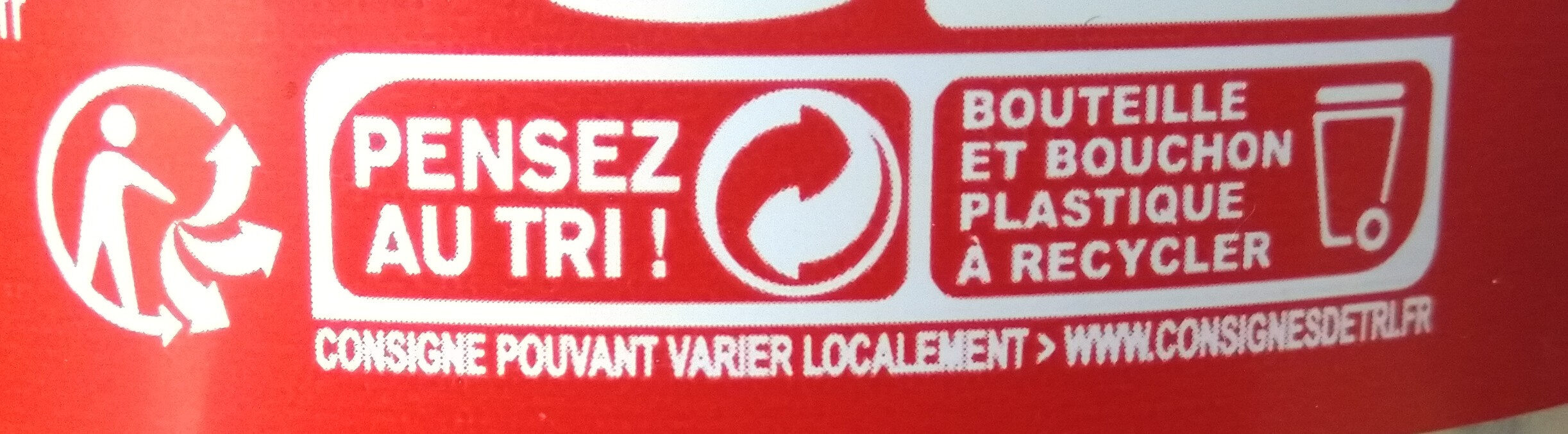 Coca-Cola zero® sans sucres - Recycling instructions and/or packaging information - fr