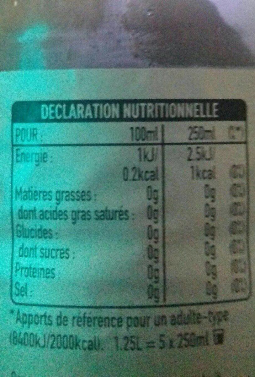 coca cola light - Nutrition facts