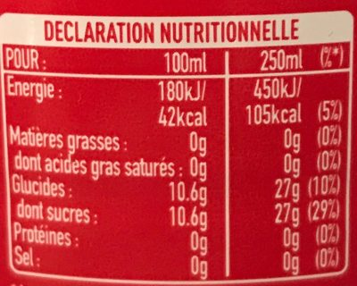 Original taste - Nutrition facts - fr