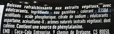Euro 2016 - Boisson rafraîchissante zéro calorie zéro sucres - Ingredienti - fr