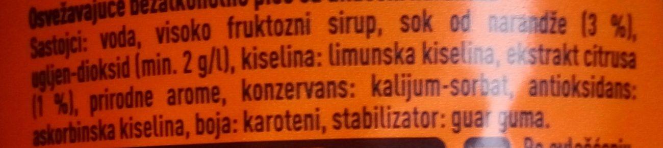 Fanta orange - Ingredients