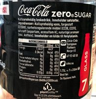 Coca Cola Zero - Ingrédients
