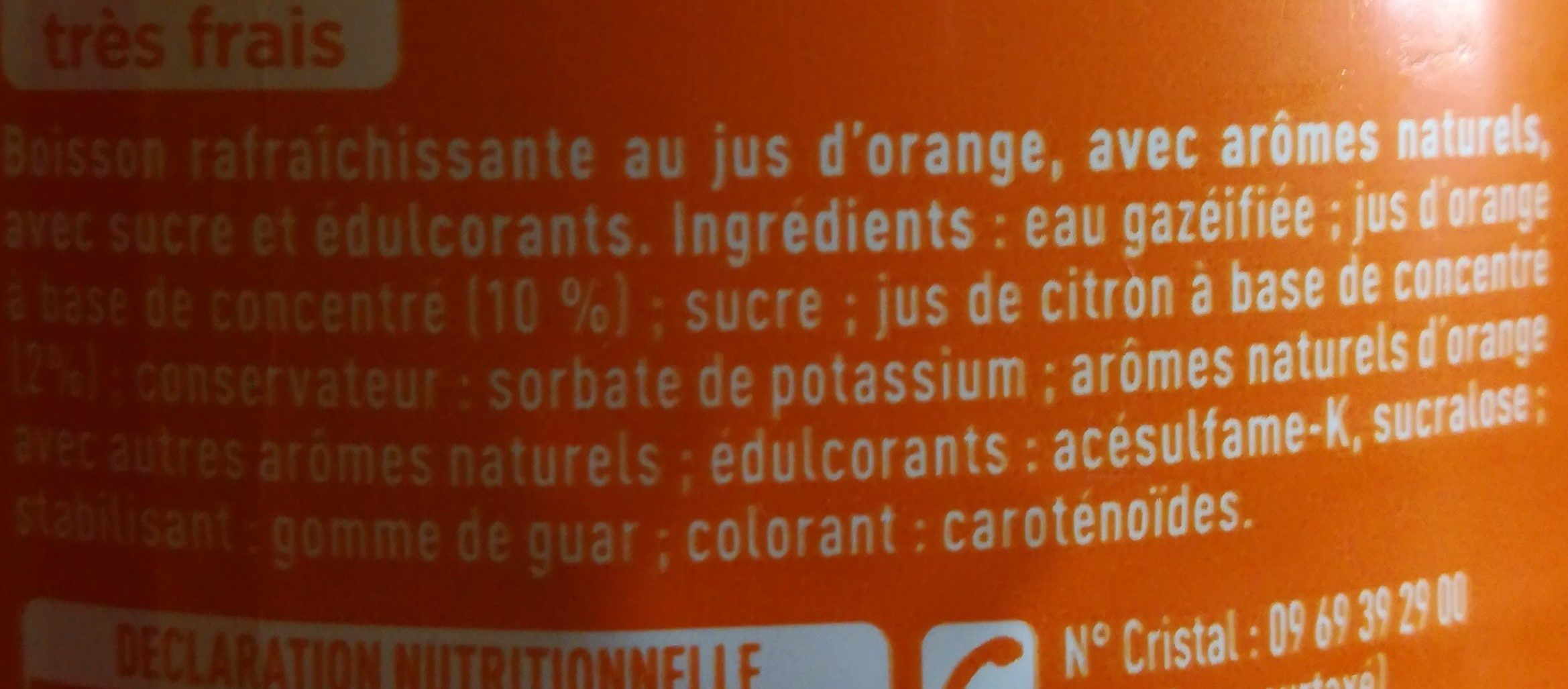 Fanta orange - Ingrédients - fr