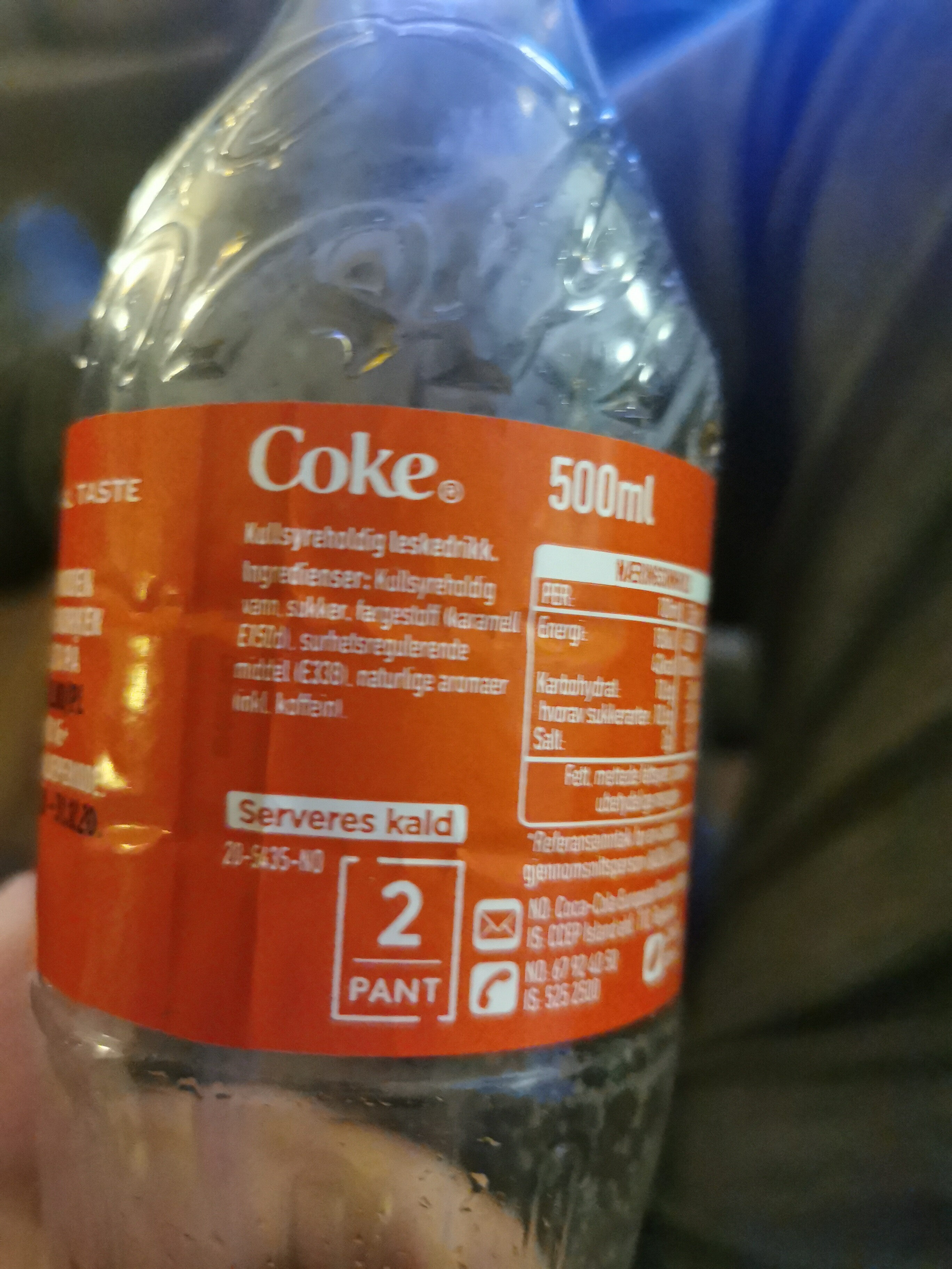 Coca Cola - Ingrédients - nb